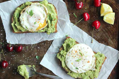 skinny fried egg avocado toast